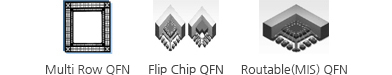 Multi Row QFN, Flip Chip QFN, Routable(MIS) QFN